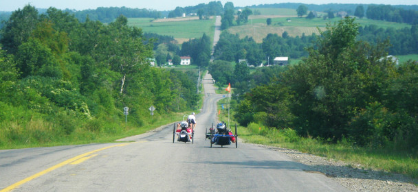 Little Alaska Handcycle Race and Camp located in Western NY.