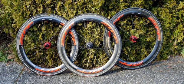 650c Zipp tubular wheel set with power tap | USA Hand Bike